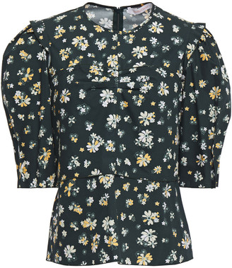 See by Chloe Layered Floral-print Cotton-poplin Blouse