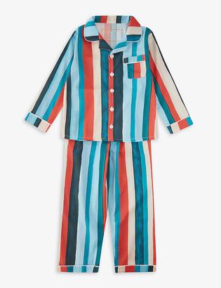 Desmond & Dempsey Striped organic cotton pyjama set 2-9 years