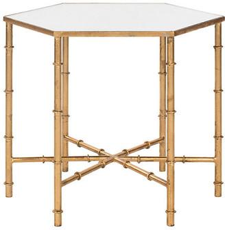 One Kings Lane Ashton Side Table - Gold/Mirror