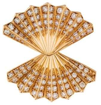 Anita Ko 18K Diamond Double Fan Single Earring