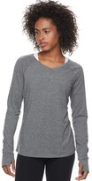 Tek Gear Women's Keyhole Long Sleeve Tee