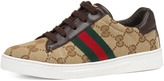 Gucci Ace GG Lace-Up Sneaker, Youth