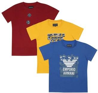 Emporio Armani Kids Set of 3 cotton T-shirts