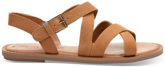 Toms Tan Leather Women's Sicily Sandals
