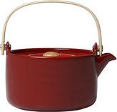 Marimekko Oiva Stoneware Teapot - Deep Red