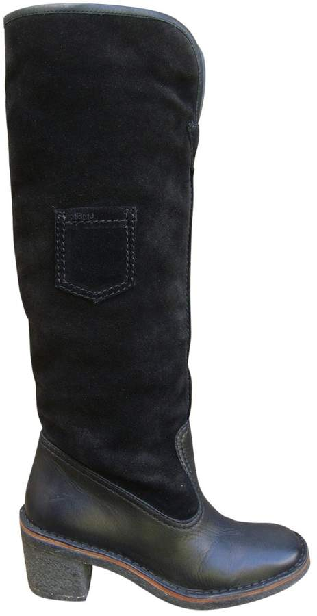 Marc by Marc Jacobs Leather fur-lined boots