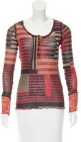 Jean Paul Gaultier Striped Wool-Blend Top