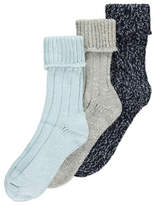 George 3 Pack Assorted Knitted Thermal Socks