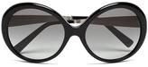 MICHAEL Michael Kors Women's Willa Large Round Sunglasses Black