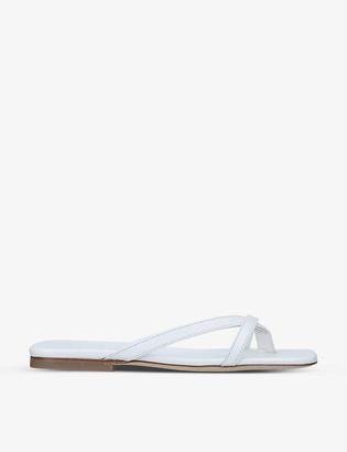 BY FAR Deni twist-strap leather sandals
