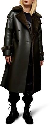 Topshop Chester Reversible Faux Fur Coat