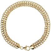 """Italian Gold 8"""" Diamond Cut Woven Bracelet, 14KGold"""