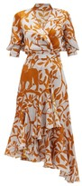 Johanna Ortiz Journal Of A Traveller Jungle-print Wrap Dress - Womens - Grey Multi