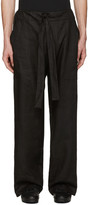 Phoebe English Black Linen Tie Front Trousers