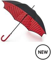 Lulu Guinness Bloomsbury Lips Grid Umbrella
