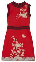 Gucci Embroidered cotton jersey dress