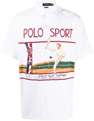 Polo Ralph Lauren Graphic Print Short-Sleeved Polo Shirt