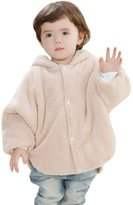 Happy Cherry Baby Cute Cloak Warm Soft Reversible Rabbit Hooded Mantle Cape Poncho Hoodie Coat