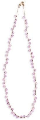 Ten Thousand Things 18K Yellow Gold & Pink Sapphire Spiral Beaded All Around Choker Necklace