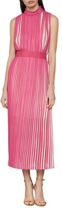 BCBGMAXAZRIA Long Sleeveless Pleated Dress