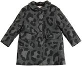Il Gufo Leopard Printed Wool Gabardine Coat
