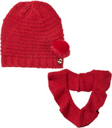 Mayoral Red Knitted Pom Pom Hat and Scarf Set