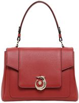 Trussardi Lovy Grained Leather Top Handle Bag
