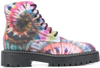 Jessie Western X Dawni Tie-Dye Combat Boots