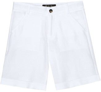 Loro Piana Kids Arden linen bermuda shorts