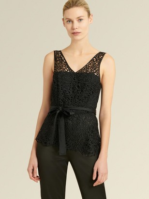DKNY Donna Karan Women's Lace Top Jumpsuit - Black - Size 16