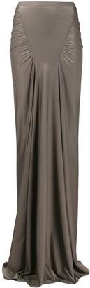Rick Owens Lilies Draped Maxi Skirt