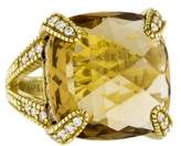 Judith Ripka 18K Diamond & Smoky Quartz Ring