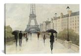 iCanvas 'Eiffel In The Rain' Giclee Print Canvas Art