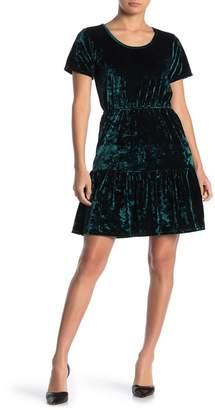 Velvet Torch Velvet Tiered Skirt Dress