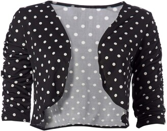 Star Vixen Women's Petite Rouch Sleeve Topper Jacket
