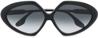 Victoria Beckham Eyewear Angular-Frame Sunglasses