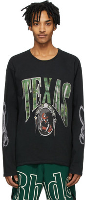 Rhude Black Texas Long Sleeve T-Shirt