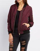 Charlotte Russe Zip-Up Bomber Jacket