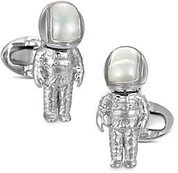 Jan Leslie Sterling Silver & Mother-of-Pearl Astronaut Cufflinks