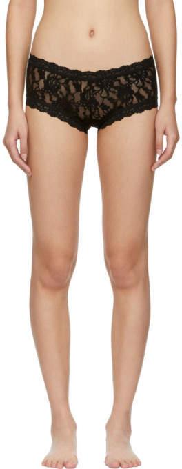 Kendra rain black lace boy shorts — pic 7