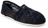 Esprit Navy Toso Aztec Crochet Slip Ons