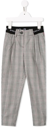 Givenchy Kids Checked Trousers