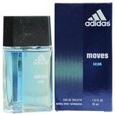 Coty Adidas Moves Eau De Toilette Spray 1 Oz For Men