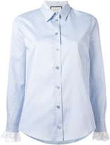 Gucci lace cuff Oxford shirt - women - Cotton - 38