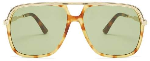 117b5d878aa Gucci Aviator Mens - ShopStyle