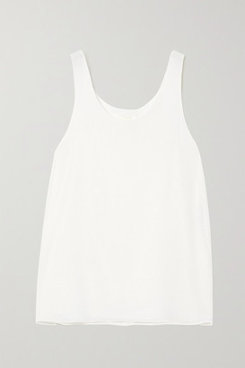 Chloé Embroidered Silk Camisole - White
