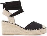 La Redoute Collections Plus Wide Fit Tie-Leg Wedge Espadrilles