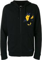 Fendi Faces butterfly zip hoodie - men - Cotton/Wool - 44