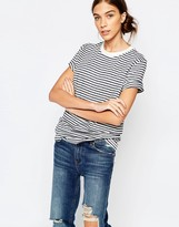 Selected Striped T-Shirt in Navy