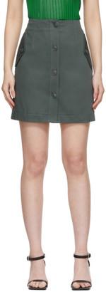 Givenchy Green Military Miniskirt